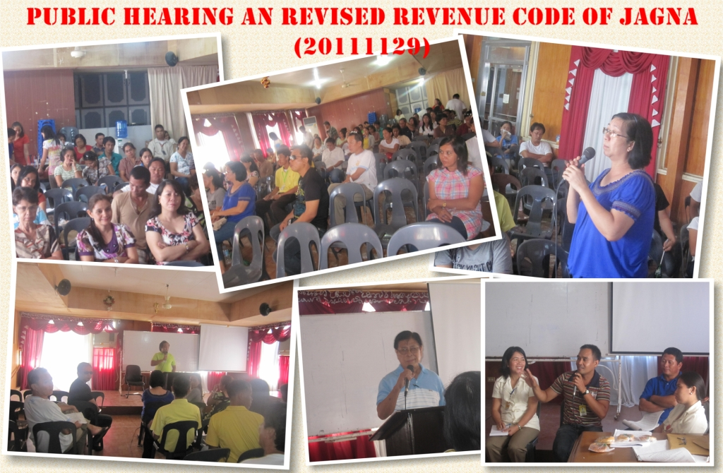 Public consultation on the Revised Revenue Code of Jagna conducted