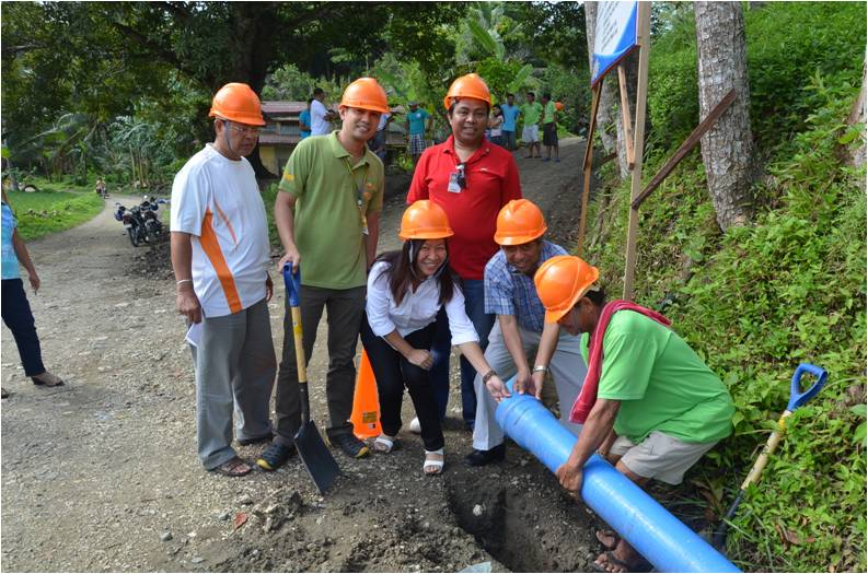 Cash award from the DILG used for waterworks project