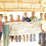Cantagay Women's Association received cash assistance of the BUB/GPBP project mais kape processing thru the Department of Labor and Employment.