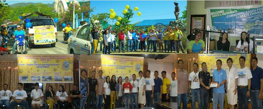 The different activities during the launching of March as Rabies Awareness Month in the Municipality of Jagna.