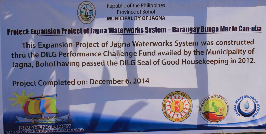 Water service expands to Bunga Mar, Cantagay, Ipil and Can-uba