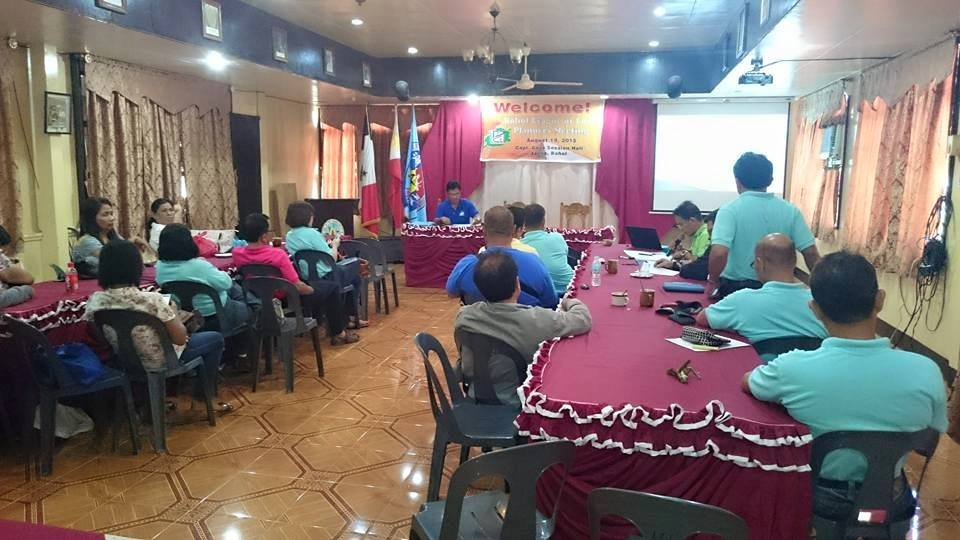 Jagna, August 19, 2015. Jagna hosted the monthly meeting of the League of Local Planning and Development Coordinators of Bohol. In the absence of Mayor Fortunato R. Abrenilla the group was welcomed by OIC Mayor Maricris V. Jamora, the municipality had the opportunity to promote the calamay, tourist spots and diving sites.