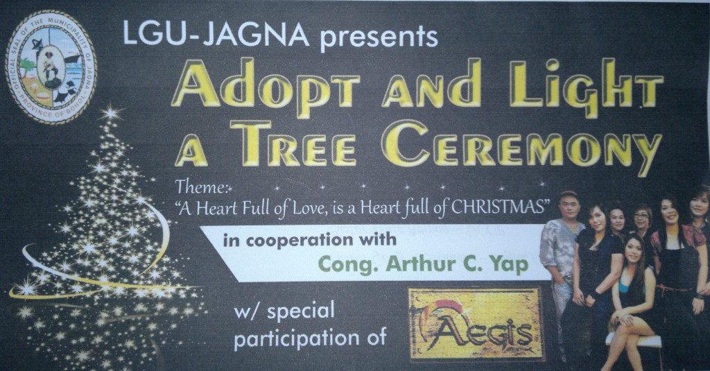 Jagna prepares for Adopt and Light a Tree Ceremony and Aegis concert