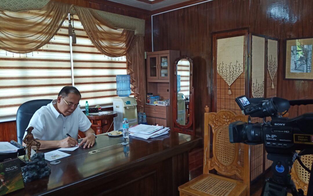 Mayor Joseph Ranola gi Congratulate ang San Miguel Cable sa Ilang 25th Anniversary
