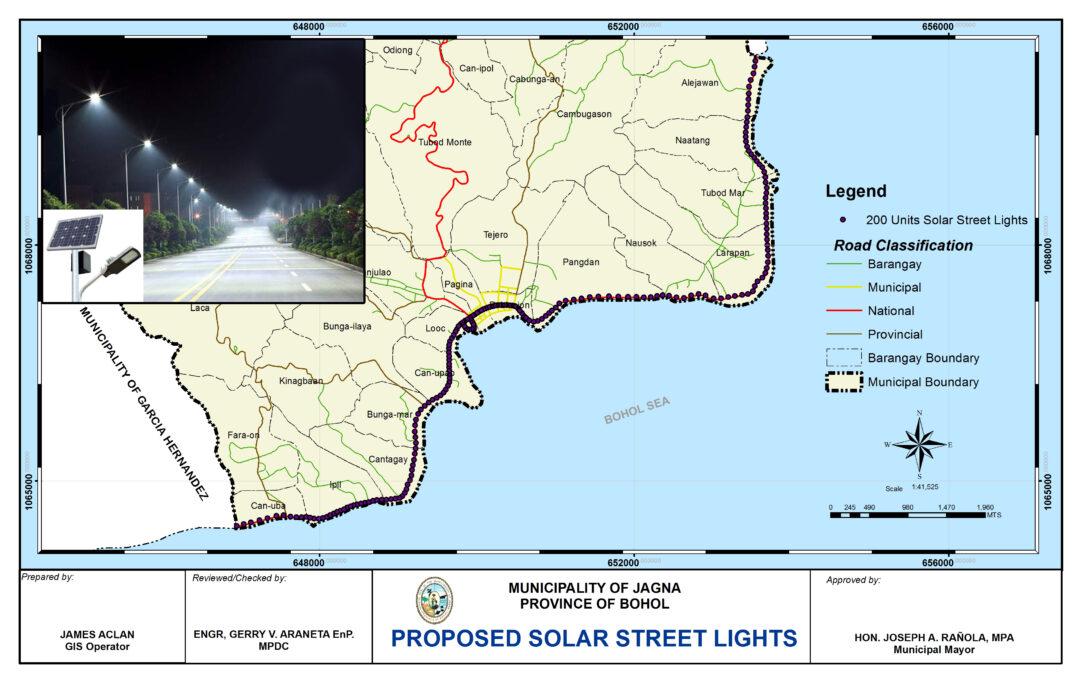 Solar Streetlights sa Jagna